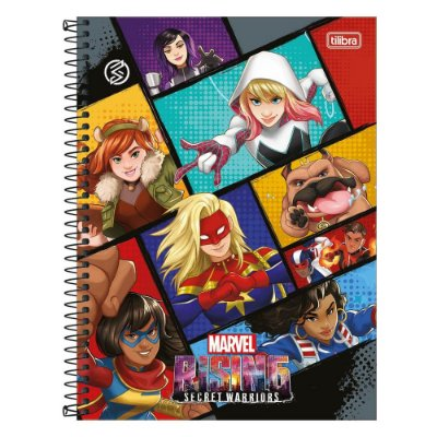 Caderno Rising Secret Warriors - Quadrinhos - 1 Matéria - Tilibra