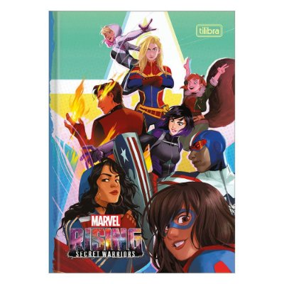 Caderno Brochura Rising Secret Warriors - Turma  - Tilibra