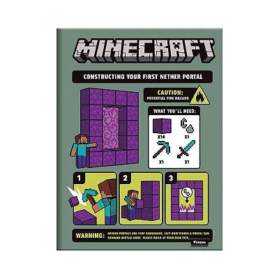 Caderno Brochura Pequeno Minecraft - Warning - Foroni