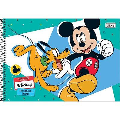 Caderno de Cartografia e Desenho Mickey & Pluto - Tilibra