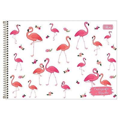 Caderno de Cartografia e Desenho Aloha - Flamingos - Tilibra