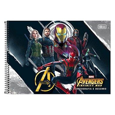 Caderno de Cartografia e Desenho Avengers - Os Vingadores - Tilibra