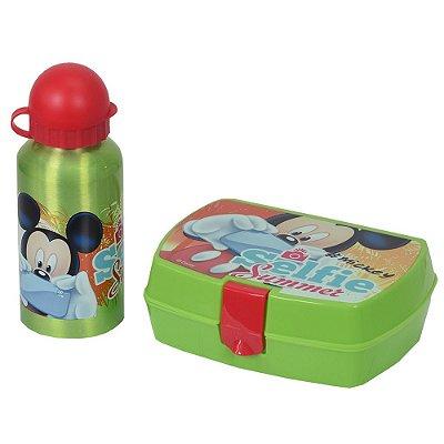 Kit de Lanche Garrafa + Sanduicheira - Mickey Mouse - DTC