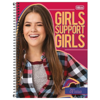 Caderno Maisa - Girls Support - 80 Folhas - Tilibra