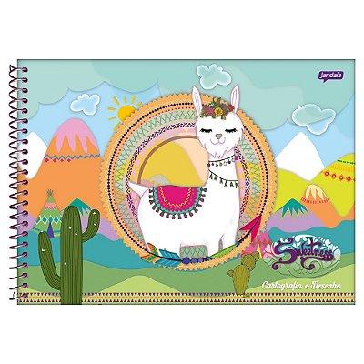 Caderno de Cartografia e Desenho Sweetness - Lhama - Jandaia