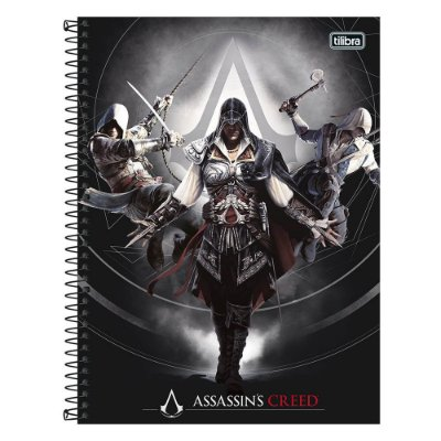 Caderno Assassins Creed - Evolution - 1 Matéria - Tilibra