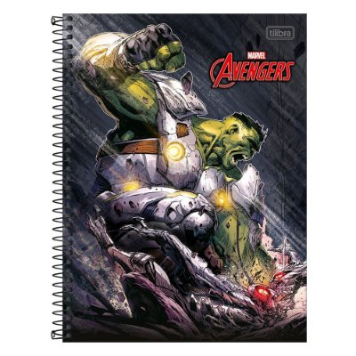 Caderno Avengers - Hulk - 1 Matéria - Tilibra