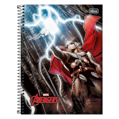 Caderno Avengers - Thor - 1 Matéria - Tilibra