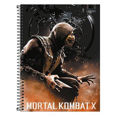 Caderno Mortal Kombat X - Scorpion - 80 Folhas - Tilibra