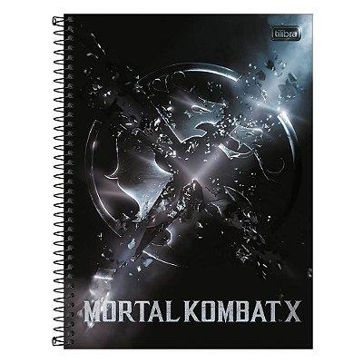 Caderno Mortal Kombat X - Símbolo - 80 Folhas - Tilibra