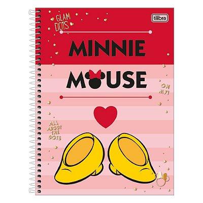 Caderno Minnie - Sapatinho - 1 Matéria - Tilibra