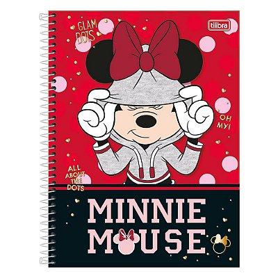 Caderno Minnie - Capuz - 1 Matéria - Tilibra
