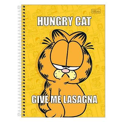 Caderno Garfield - Amarelo - 1 Matéria - Tilibra