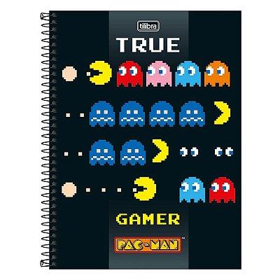 Caderno Pac Man - True Game - 1 Matéria - Tilibra