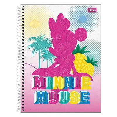 Caderno Minnie - Tropical - 160 Folhas - Tilibra