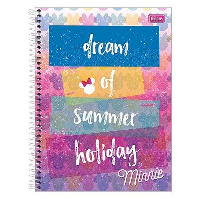 Caderno Minnie - Dream of Summer Holiday - 160 Folhas - Tilibra