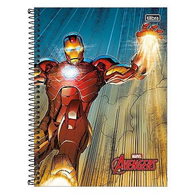 Caderno Avengers - Homem de Ferro - 10 Matérias - Tilibra