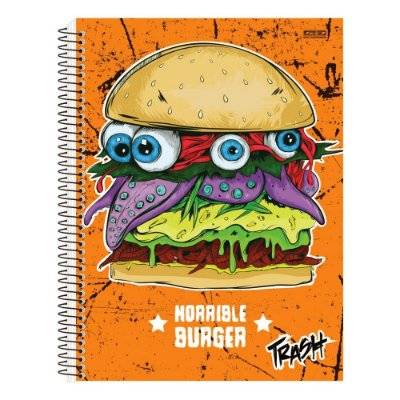 Caderno Trash - Horrible Burger - 1 Matéria - São Domingos