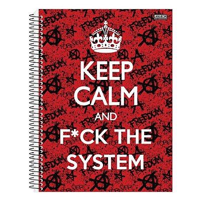 Caderno Keep Calm and F*CK The System - 1 matéria