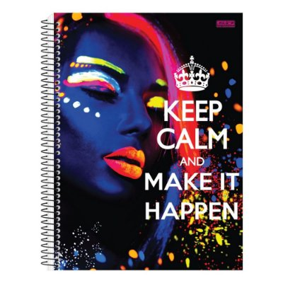Caderno Keep Calm And Make It Happen - 10 Matérias - São Domingos