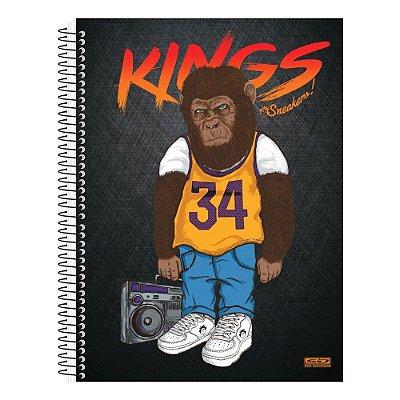 Caderno Kings Sneakers Monkey - 1 Matéria - São Domingos