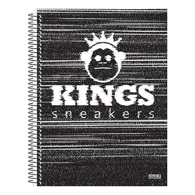 Caderno Kings Sneakers Preto - 1 Matéria - São Domingos