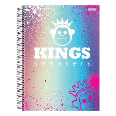 Caderno Kings Sneakers Colors - 1 Matéria - São Domingos