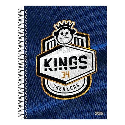 Caderno Kings Sneakers Azul - 1 Matéria - São Domingos