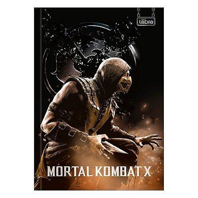 Caderno Brochura Mortal Kombat X - Scorpion - 80 Folhas - Tilibra