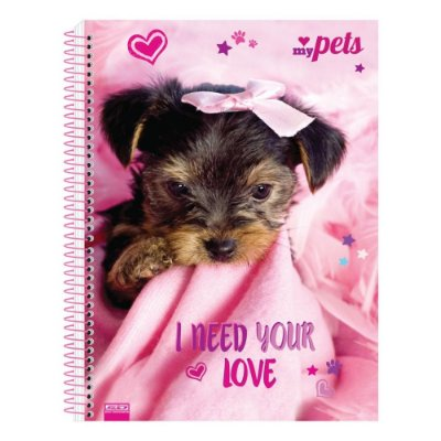Caderno My Pets - I Need Your Love - 10 Matérias - São Domingos