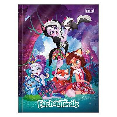 Caderno Brochura Enchantimals - Noite - 80 Folhas - Tilibra