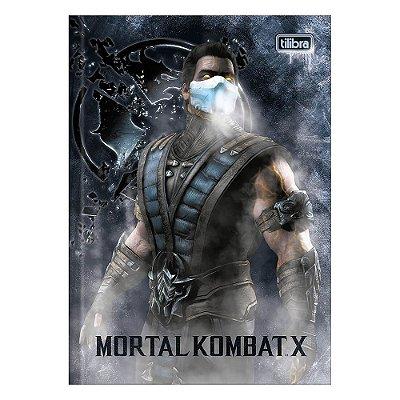 Caderno Brochura Mortal Kombat X - Personagem - 80 Folhas - Tilibra