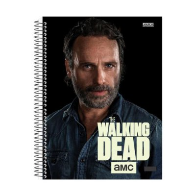 Caderno The Walking Dead - Rick - 10 Matérias - São Domingos