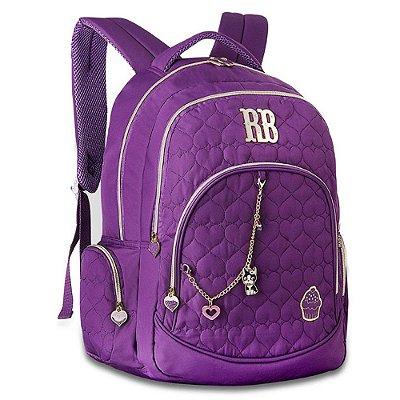 Mochila de Costas Para Notebook Rebecca Bonbon Cupcake - Roxa - Clio Style