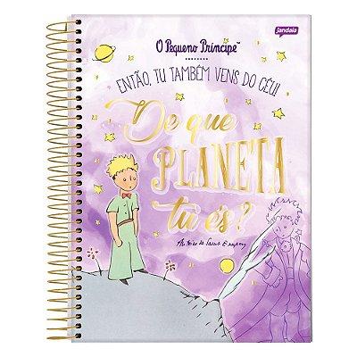 Caderno O Pequeno Príncipe - Roxo - 1 Matéria - Jandaia