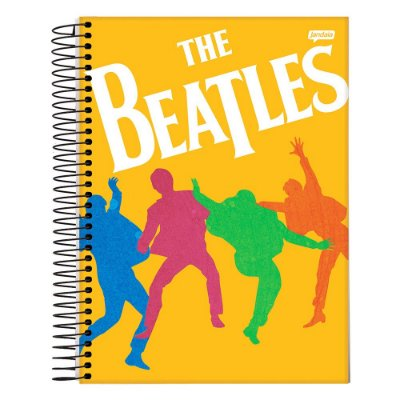 Caderno The Beatles - Laranja - 10 Matérias - Jandaia