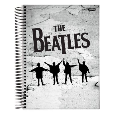 Caderno The Beatles - Cinza - 10 Matérias - Jandaia