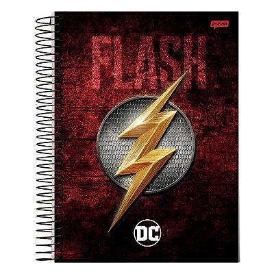 Caderno DC Comics - Flash - 1 matéria - Jandaia