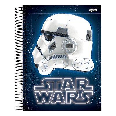 Caderno Star Wars - Stormtrooper - Azul - 1 Matéria