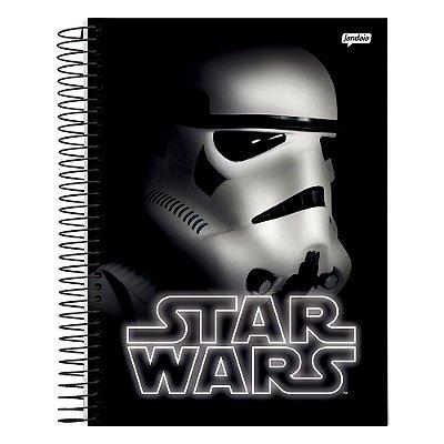 Caderno Star Wars - Stormtrooper - Preto - 10 Matérias