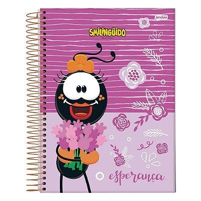 Caderno Smilingüido - Rosa - 1 Matéria - Jandaia