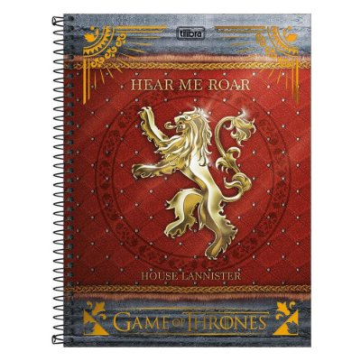 Caderno Game Of Thrones - House Lannister - 1 Matéria - Tilibra