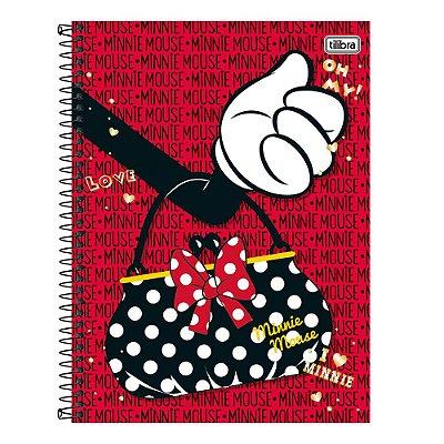 Caderno Minnie Mouse - Bolsinha - 16 Matérias - Tilibra