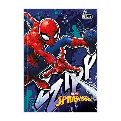 Caderno 1/4 Brochura Spider Man - Azul Escuro - 96 Folhas - Tilibra