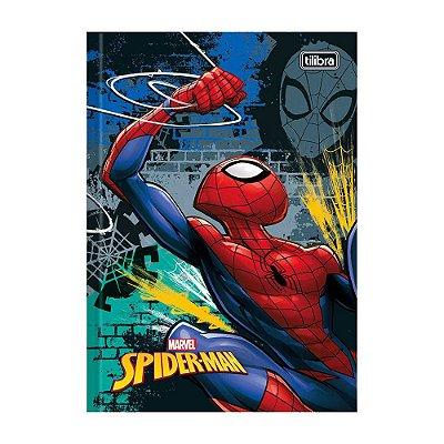 Caderno 1/4 Brochura Spider Man - Preto - 96 Folhas - Tilibra