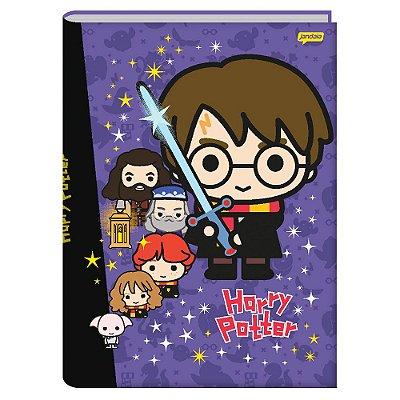 Caderno Brochura Harry Potter - Roxo - 96 Folhas - Jandaia