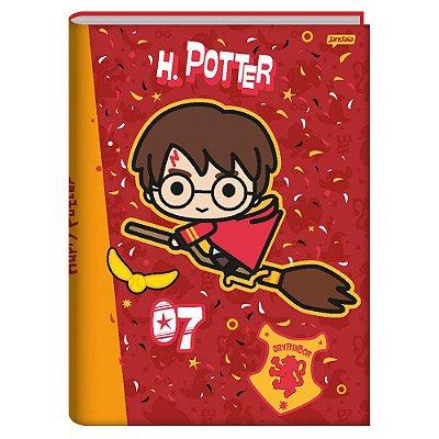 Caderno Brochura Harry Potter - Vermelho - 96 Folhas - Jandaia