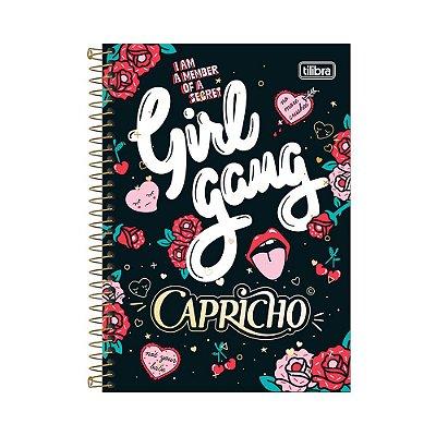 Caderno 1/4 Espiral Capricho - Girl Gang - 80 Folhas - Tilibra