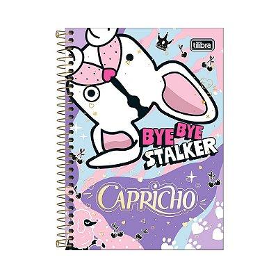 Caderno 1/4 Espiral Capricho - Cachorrinho - 80 Folhas - Tilibra