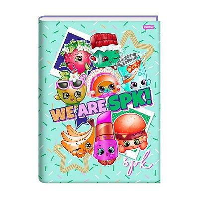 Caderno 1/4 Brochura Shopkins - Granulado - 96 Folhas - Jandaia